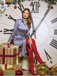 Климова показала фото в красных ботфортах